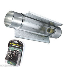 "HYDROPONIC COOLTUBE GROW LIGHT 27"" REFLECTOR AIR COOL TUBE +ROPE RATCHES HANGERS"