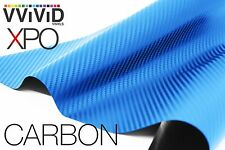 VViViD Blue Dry Carbon Fiber FULL CAR WRAP vinyl 50ft x 5ft decal 3mil new