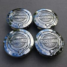 NEW CHRYSLER (SET OF 4) 54mm CHROME WHEEL CENTER CAPS WC4PC535