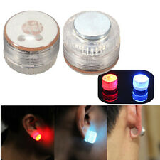 2x Magnetic Light Up LED Flashing Blinking Fashion Ear Studs Xmas Party Earrings