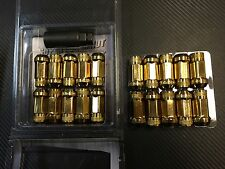1320 Performance Gold 14x1.5 Steel extended lug nuts m14 x 1.5 20 pcs strong
