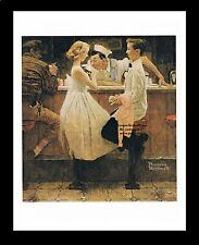 """Norman Rockwell High School dance dating print: """"AFTER THE PROM DATE"""" 11"""" x 15"""""""