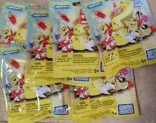 Lot of 6 Spongebob Squarepants Mega Bloks Series #3 figures mystery toy set NEW
