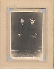 Photo ancienne   portrait de famille  mère & fille  R. De Rozycki Pouancé
