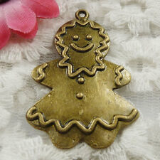 Free Ship 13 pieces bronze plated Ginger Bread Men pendant 41x27mm #1824