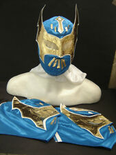 LOT of 3 SIN CARA BLUE WRESTLING MASK YOUNG SIZE youth joven FREE SHIPPING