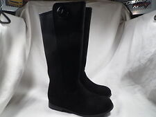 MICHAEL KORS EMMA LILY GIRLS BLACK SUEDE BOOTS YOUTH SIZE 2