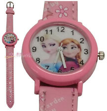 Disney Frozen Elsa & Anna Girls Kids Children Quartz Wrist Gift Watch Pink