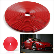 1X Car Vehicle Wheel Rims Protector Tire Guard Line Rubber Moulding Red Easy DIY