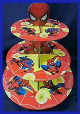 3 Tier Cupcake Stand Cup Cake Cases Toppers Wrappers, Spider man spiderman