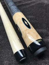 Joss Natural Curly Maple Pool Cue, Well Done Inlays W/ Joint Protectors