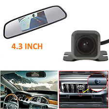 4.3 Inch LCD In-Mirror Monitor +Mini HD Car Reverse Backup Rearview Camera Kit