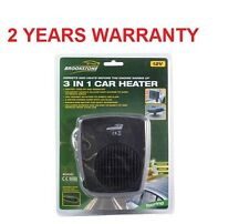 BROOKSTONE 12V TYPE 12 VOLT 3-IN-1 IN CAR HEATER FAN DEMISTER