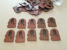LEGO Brown Thin Door - Lot of 10 - w/ Black Grate Castle Town  - Multiple Avail.
