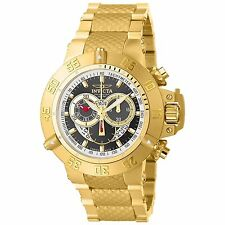 Invicta Mens Subaqua Noma III Swiss Made Chronograph Gold Plated Bracelet Watch
