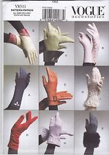 Vogue Accessories Sewing Pattern Misses' 8 Pairs of Gloves   V8311