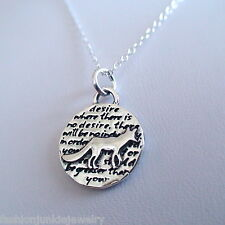 Fox Charm Necklace - 950 Sterling Silver - Handmade - Inspirational *NEW* Coyote