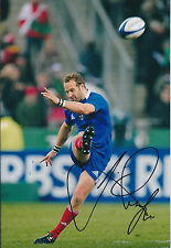 Frederic MICHALAK Signed Autograph Photo AFTAL COA France RUGBY World Cup
