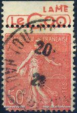 FRANCE TIMBRE PUB LE COQ SUR SEMEUSE N° 199 AVEC OBLITÉRATION A VOIR