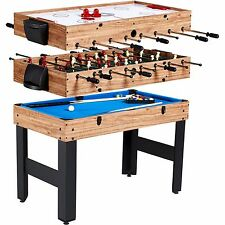 Multi Game Table Combo 3 In 1 Pool Billiards Air Hockey Foosball Soccer Convert