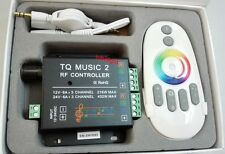 12/24V 18A 2CH RGB Music led controller Sound/Audio control RF Half Touch Remote