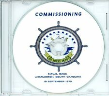 USS Trippe DE 1075 Commissioning Program 1970 on CD Navy Plank Owners