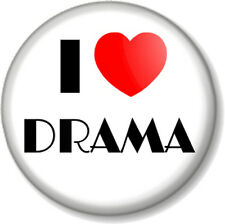 I Love / Heart DRAMA 25mm Pin Button Badge The Arts Stage School Acting Theatre