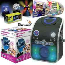 Mr Entertainer KAR120 Reproductor De Máquina De Karaoke. construido en disco Luces Y Bluetooth
