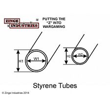 Zinge Industries 2 X Styrene Tubes 160mm Lengths 5.5mm & 4mm Diameters A-TUB01
