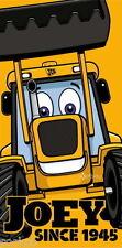 Joey Jcb Playa Baño Algodón Toalla Nuevo Regalo Digger Camiones Coches