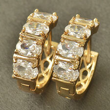 Noble 9K Solid Gold Filled Authentic CZ Womens 19MM Hoop Earrings,HOT,Z3750