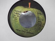 45-JOHN LENNON INSTANT KARMA / WHO HAS SEEN THE WIND ON APPLE RECORDS