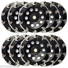 "10PK 7"" Premium Arrow Segment Cup Wheel for Concrete 7/8""-5/8"" Arbor 30/40 Grit"