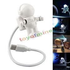 Flexible Astronaut LED USB-Nachtlicht Mini-Lampe für Laptop PC Notizbuch -Lese
