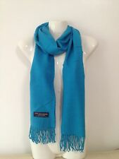100% CASHMERE SCARF MADE IN SCOTLAND SOLID DESIGN SUPER SOFT UNISEX