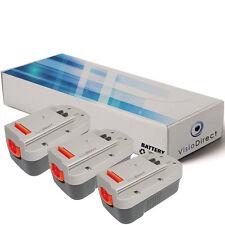 Lot de 3 batteries type A1718 18V 3000mAh pour Black et decker