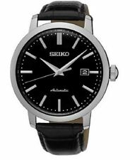 Seiko Automatic SRPA27 Black Dial Black Leather Band Men's Watch