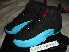 NIKE AIR JORDAN RETRO 12 XII GAMMA BLUE GS US 5.5Y UK 5 EU 38 2013 BLACK TAXI