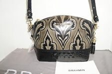 BRAHMIN MINI DUXBURY TAUPE LEATHER CROSSBODY BAG/PURSE K50847