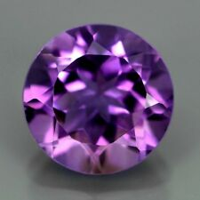 5 pezzi di 4mm Round-FACET Light-Viola Naturale Brasiliano AMETISTA GEMME £ 1 NR!