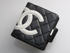 G7778M Authentic CHANEL Cambon Genuine Leather Bifold Wallet