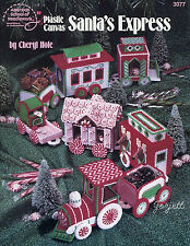 Santa's Express Train plastic canvas patterns OOP rare