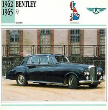 "BENTLEY 1962-1965 ""S3"" ADVERTISING BROCHURE"