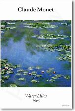 Claude Monet - Water Lilies 1906 - NEW French Fine Art Print POSTER