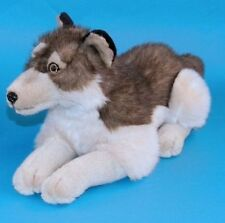 Dowman Lying Wolf Soft Toy 41cm (RB561) - Brand New