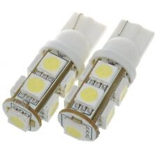 2 X T10 W5W 9 SMD LED Wedge Signal Parking Light Side Marker Light WHITE Colour