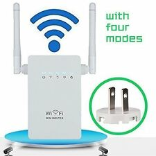 300Mbps Wifi Repeater Wireless-N AP Range Signal Extender Booster US Plug 802.11