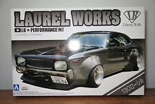 Aoshima Liberty Walk Lb Nissan Datsun 130 Laurel Works Plastic Model Kit 1/24