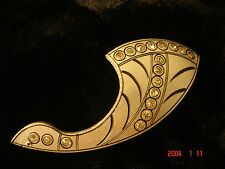 Antique? Vintage Art Deco Celluloid? Silver With Rhinestones Pin Brooch