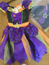 Bnwt filles sorcière halloween fancy dress up. âge 7-8 ans. sainsbury